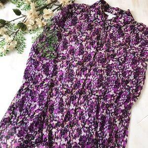 Diane Von Furstenburg Leopard And floral silk top